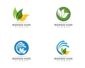 Nature leaf logo design concept