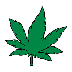 Cartoon Cannabis Leaf