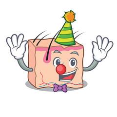 Clown skin mascot cartoon style