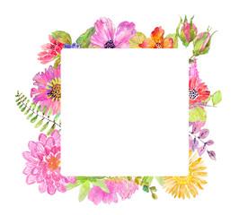 Watercolor beautiful floral design
