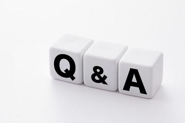 質問 Q&A words concept