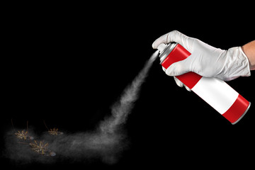 spray can of insecticide