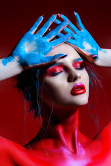 Photo sur Aluminium Akt creative makeup and bodypainting