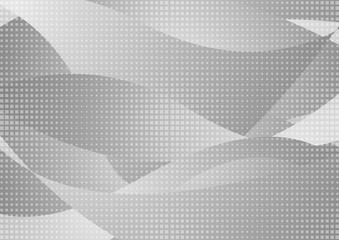 Grey wavy abstract background with squares texture