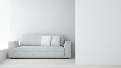 Relax space in condominium - 3d rendering minimal japanese