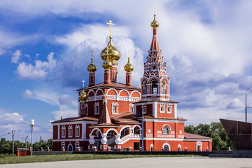 The Holy Epiphany Russian Orthodox Church in the city of Kurgan, Russia.