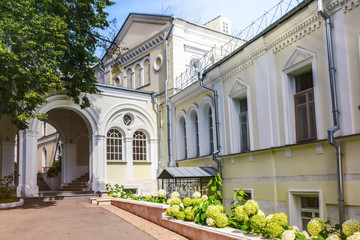 The yard of Ivanovsky Convent - large stauropegic Russian Orthodox convent in central Moscow.