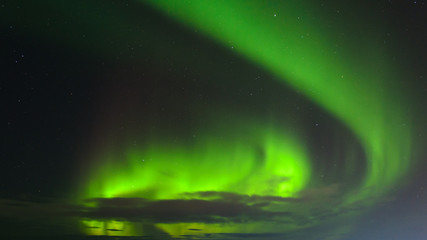 The Northern Lights, the Aurora in the night sky.