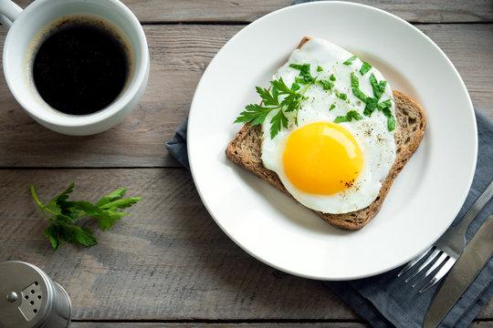 Fried Egg on Wholegrain Toast