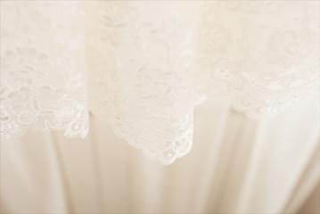 Beautiful lace with flower pattern - macro photo