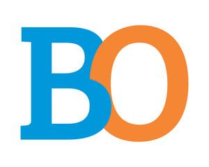 BO initial alphabet typography typeface typeset logotype alphabet image vector icon