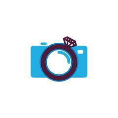 Wedding Camera Logo Icon Design