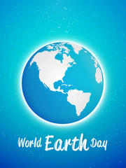 creative abstract or poster for World Earth Day with creative earth design illustration in a sparkling background.