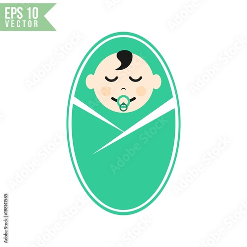 baby face icon vector template stock image and royalty free vector