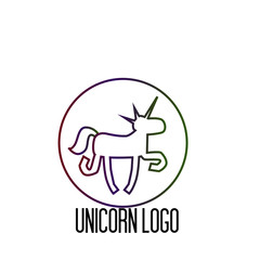 unicorn logo icon