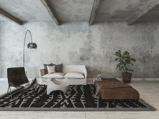 Hipster modern loft conversion living room