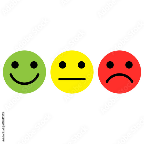 Emoticon Iconsmilestraight Facesad Expression Face Isolated