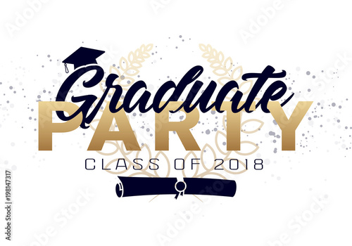 Graduation label vector text for graduation design congratulation graduation label vector text for graduation design congratulation event party high school stopboris Choice Image