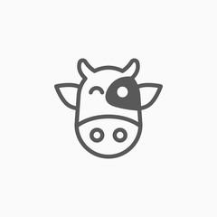 cow icon, ox vector