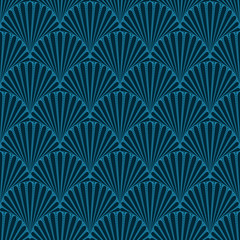 Wavy background. Seamless pattern. Vector. なみなみパターン