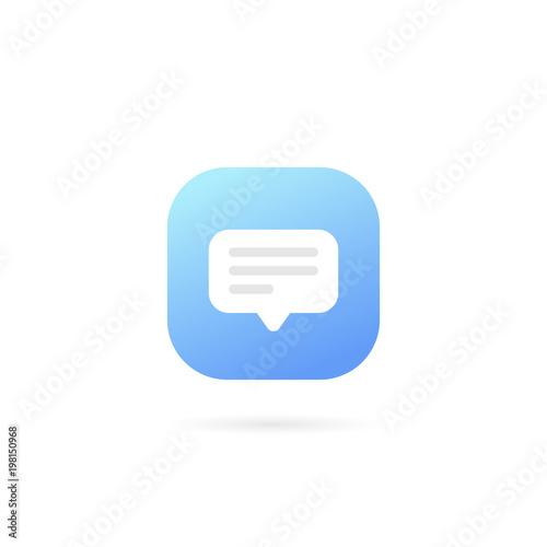 text message logo template design vector speech bubble symbol