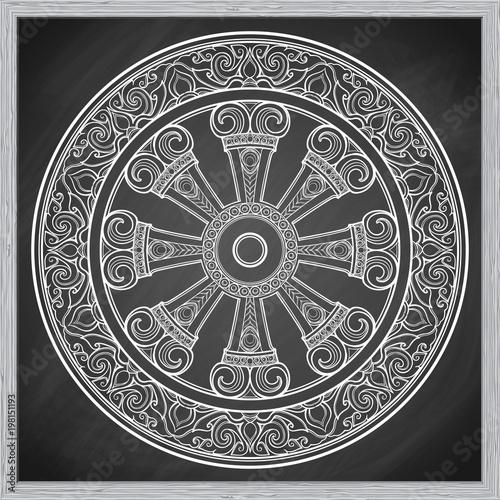 Dharma Wheel Dharmachakra Symbol Of Buddhas Teachings On The Path