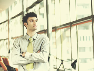 portrait of young business man at modern office