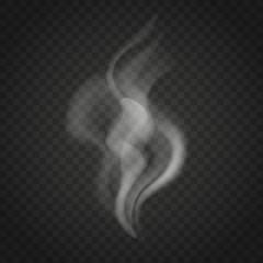 Transparent smoke isolated on dark background