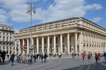 Place de la Comedie in the French city Bordeaux