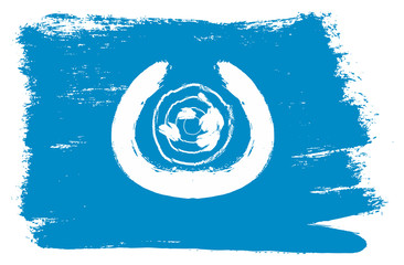 United Nations Flag Vector Hand Painted with Rounded Brush