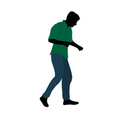vector isolated silhouette people dancing in colored clothes