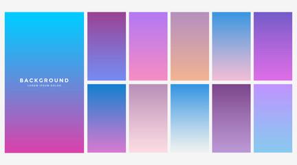 set of blue gradient color combination