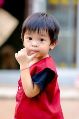 portrait of kid boy