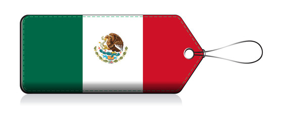 Mexican flag label, Made in Mexico