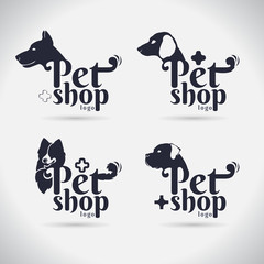 pet logo vector on white background