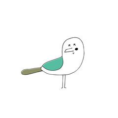 Vector hand drawn seagull