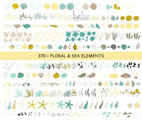 Set of sea elements