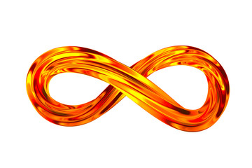 infinity sign on white background. Isolated 3D illustration