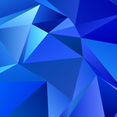 Blue gemoetric abstract polygonal background template design