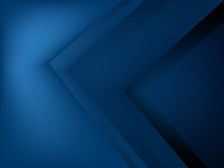 Blue triangle vector background arrow angle paper layer overlap on space for text