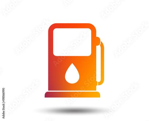 Petrol Or Gas Station Sign Icon Car Fuel Symbol Blurred Gradient