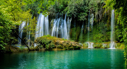 waterfall forest water nature naturel sightseeing recreation