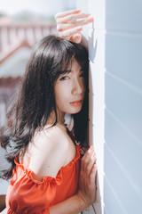 Young beautiful asian sexy woman model, Thai woman.