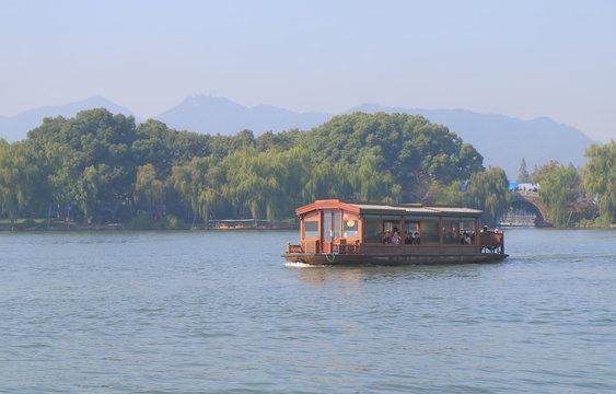 West lake cruise boat Hangzhou China