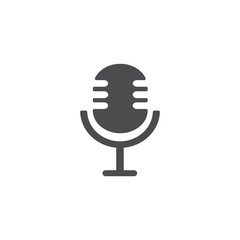 Microphone icon. For web, business, finance and communication. Vector Illustration.