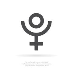 Pluto symbol. Vector icon.
