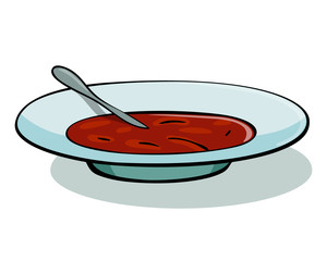 Vector illustration of tomato soup in a white bowl. Soup illustration. Soup icon. Soup icon vector. Soup icon art. Soup icon shape. Soup icon new. Soup icon best. Soup icon flat. Soup flat icon.