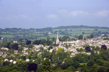 UK, Gloucestershire, Cotswolds, Painswick, view