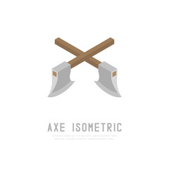 Axe 3D isometric virtual design illustration isolated on white background with Axe isometric text and copy space