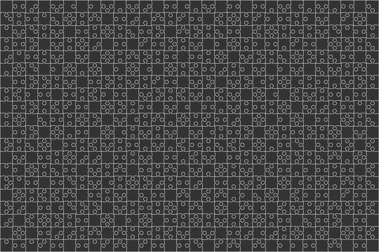 Black Puzzles Pieces Jigsaw - Vector Background.